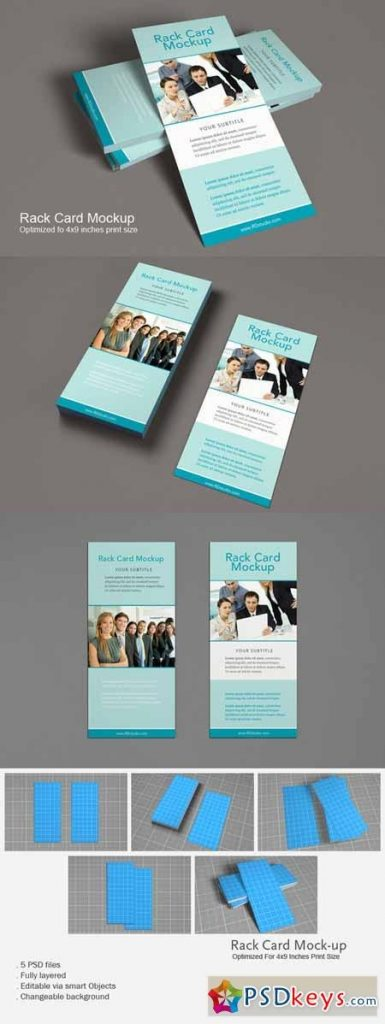 rack card mockup 166836 free download photoshop vector stock image