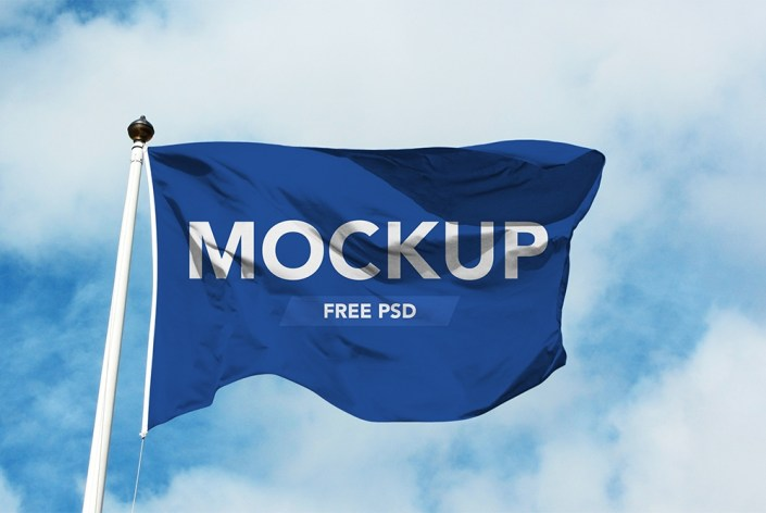 realistic flag mockup free psd download psd