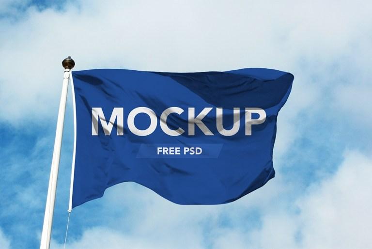 realistic flag mockup free psd download psd
