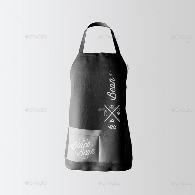 restaurant and home kietchen apron mockup 08