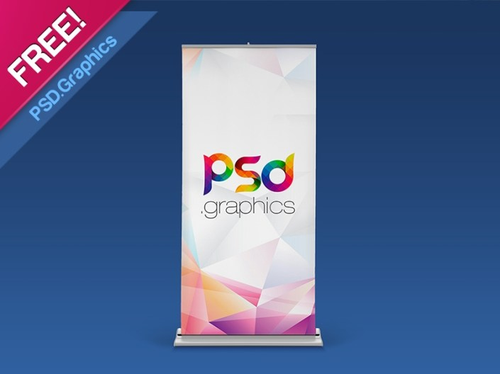 roll up banner mockup free psd psd graphics on dribbble
