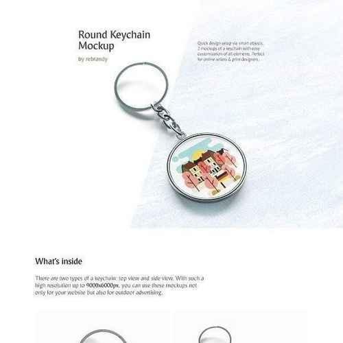 round keychain mockup 2960400 uxfree