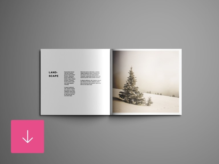 square brochure mockup free graphic pear on dribbble