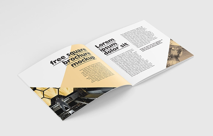 square brochure mockup mockups design free premium mockups