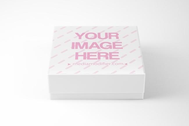 square gift box mockup generator mediamodifier