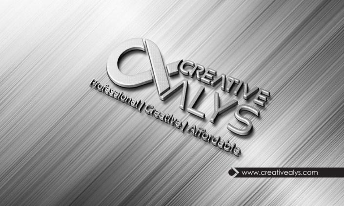 steel 3d logo photoshop mockup creative alys
