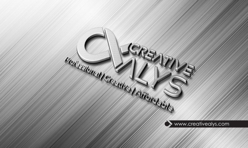 steel 3d logo photoshop mockup creative alys