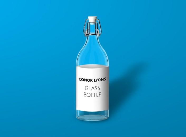 swing top water bottle mockup mockupworld
