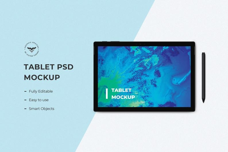 tablet mockups with pen ipad flat laydigital mockuptablet clip artipad tablet decal mockupinstant download