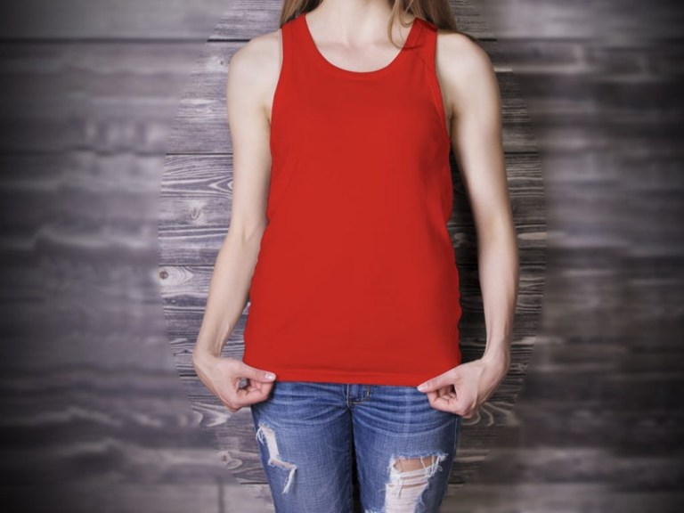 tank top girl mockup mockupworld