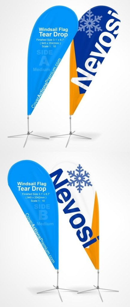 teardrop beach flag mockup 9 ft flag mockup flag