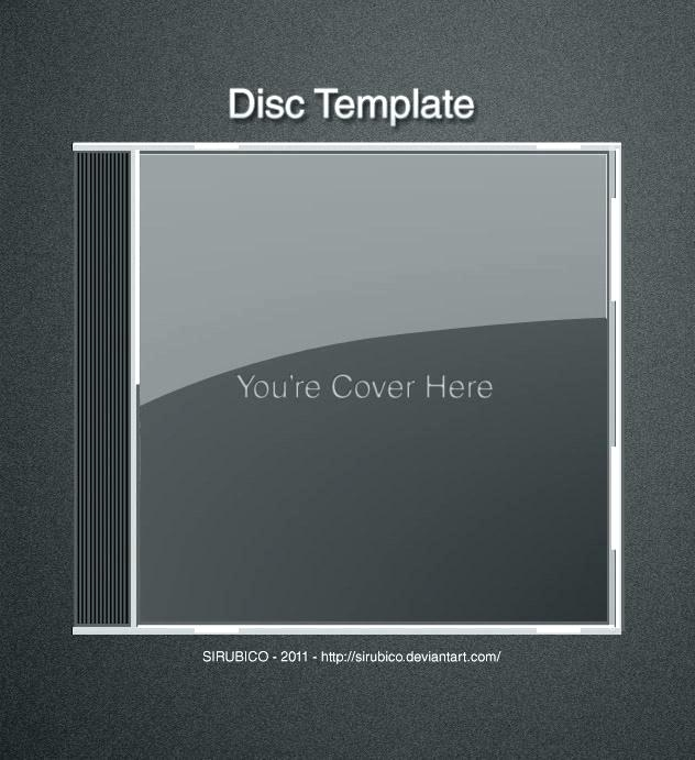 template for case cover full size cd photoshop psd jewel