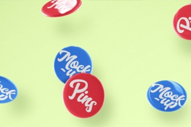 this is a free falling collection of psd button badge mockup