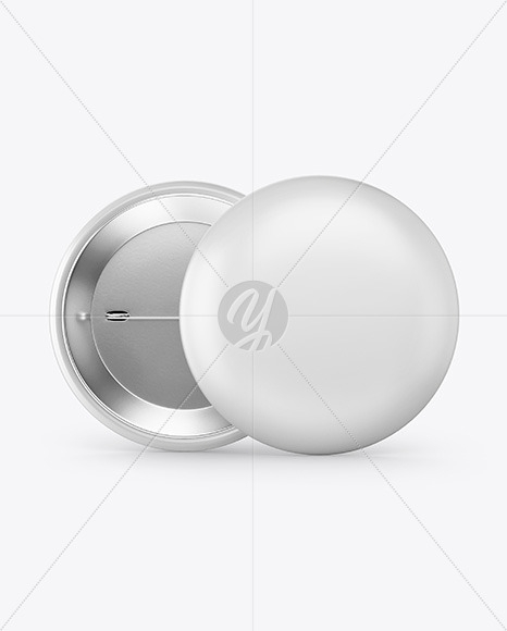 two circle button pins mockup in stationery mockups on