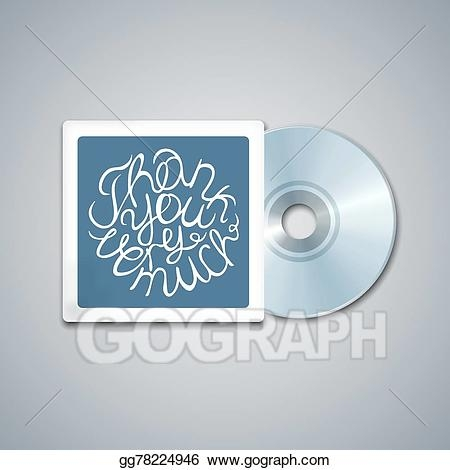 vector art mixed cd cover mockup template with lettering