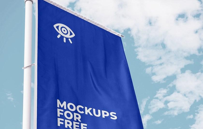 vertical flag mockup mockups for free