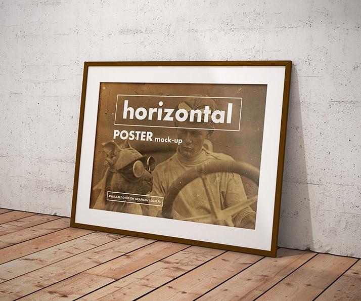 vintage posters frame mockup mockups design free premium