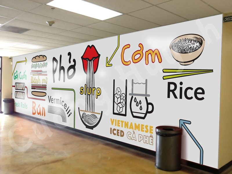 wall mural popular vietnamese food design pho
