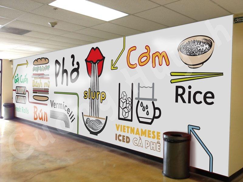 wall mural popular vietnamese food design pho