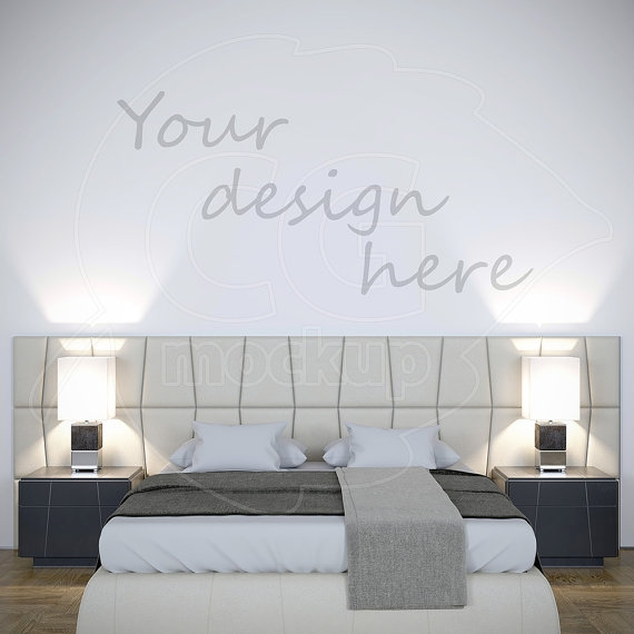 wall stencil blank wall mockup styled stock wall decal