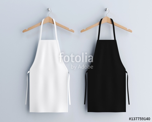 white and black aprons apron mockup clean apron stock