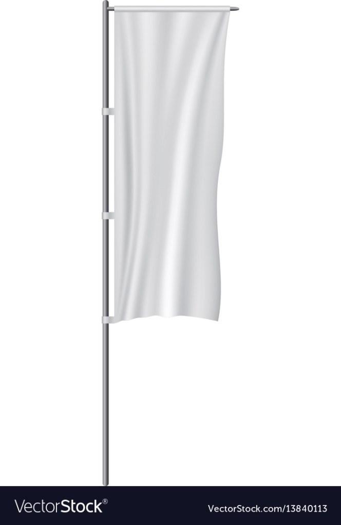 white panel flag mockup realistic style