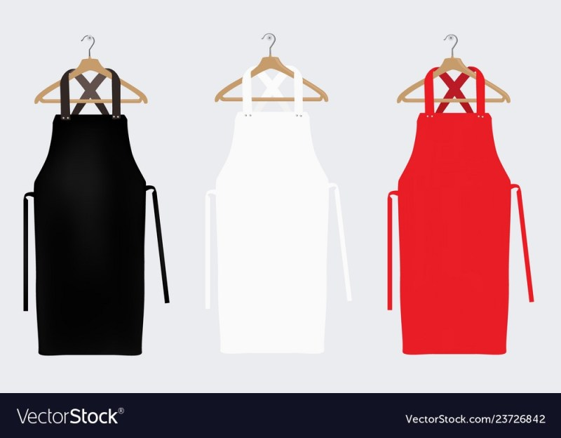 white red and black aprons apron mockup clean