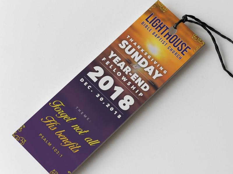 year end church activity bookmark jake gaviola on dribbble