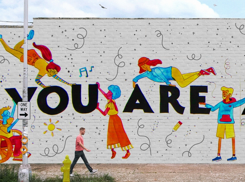 you are apart of this story mural wall mockup danielle on