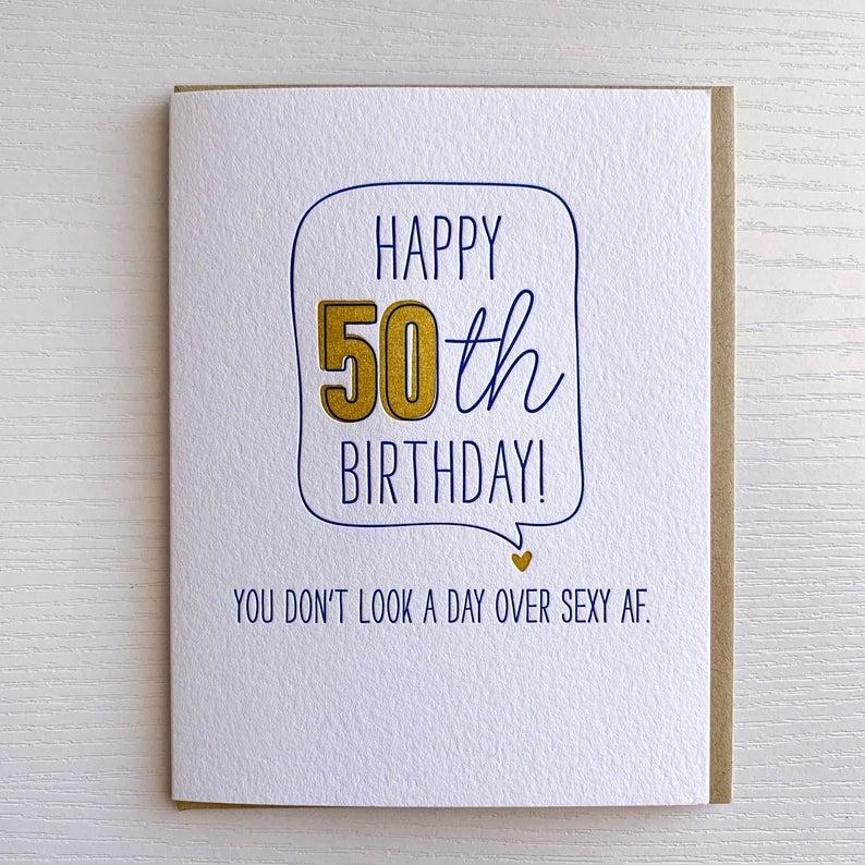 50th birthday card funny card for 40th birthday 50th birthday card sexy af card birthday card