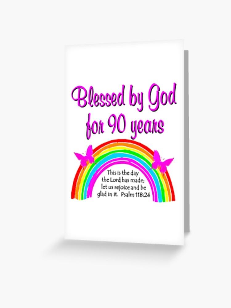 90th Birthday Card - candacefaber.com