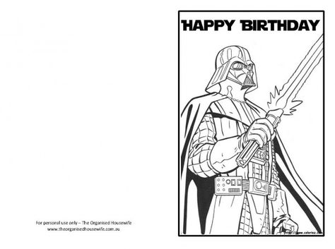 free printable birthday cards star wars free printable