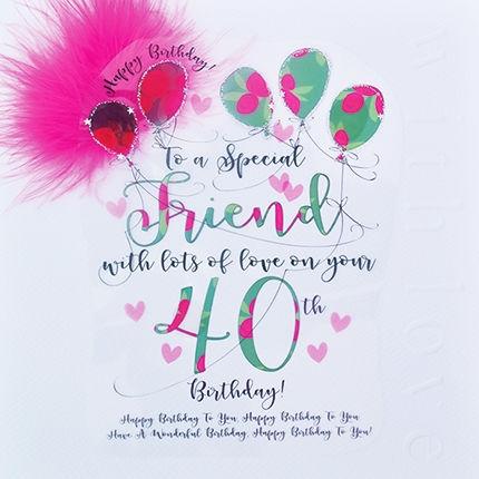 handmade friend 40th birthday card large luxury birthday card