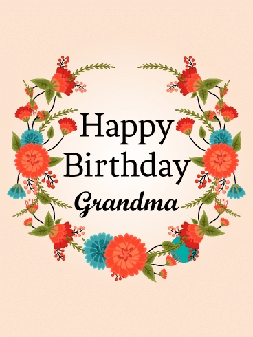 "Grandma Birthday Card - candacefaber.com"" title="