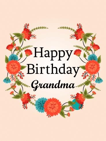 "Grandma Birthday Card - candacefaber.com"" title="