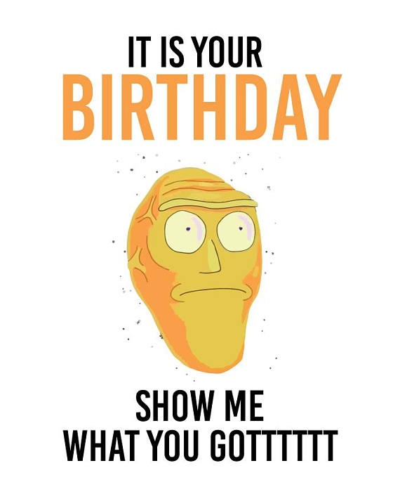 "Rick And Morty Birthday Card - candacefaber.com"" title="