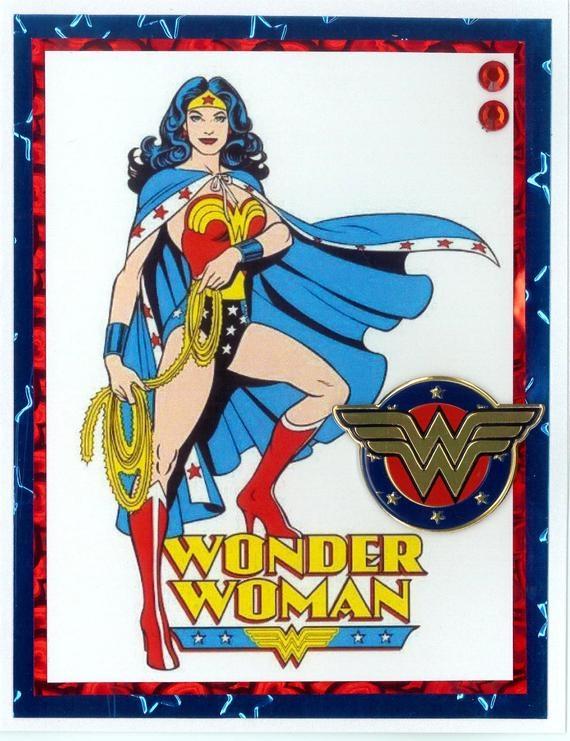 wonder woman birthday card