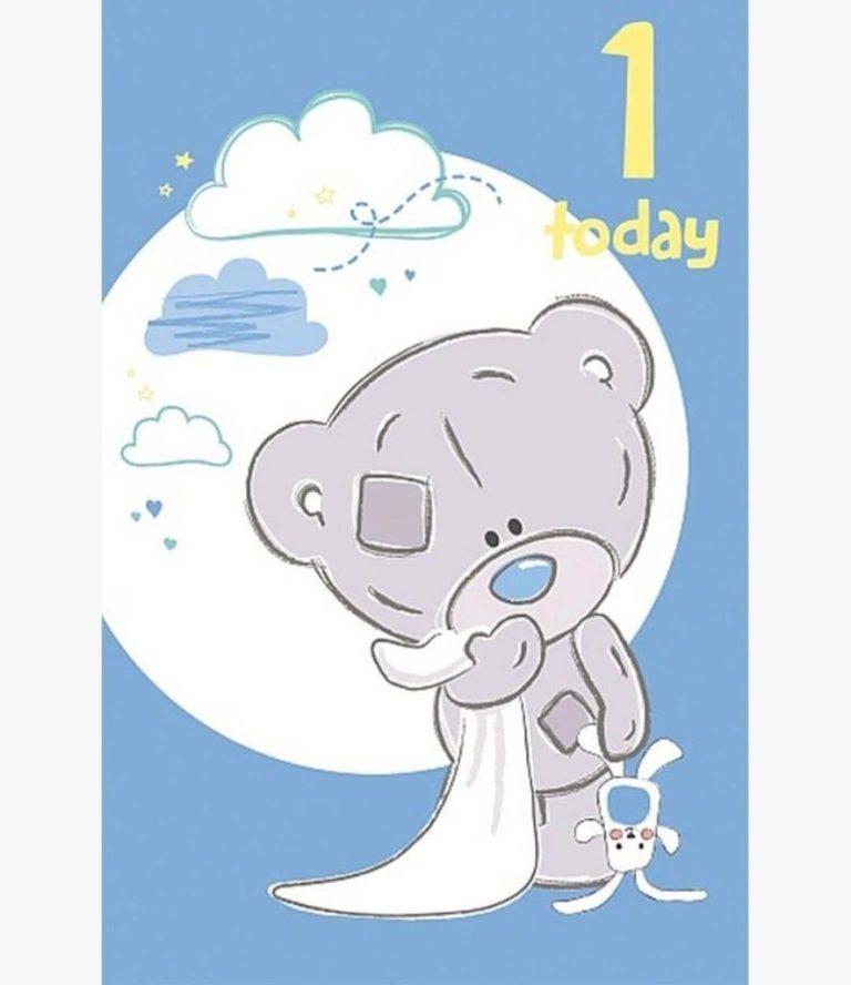 1 today birthday card