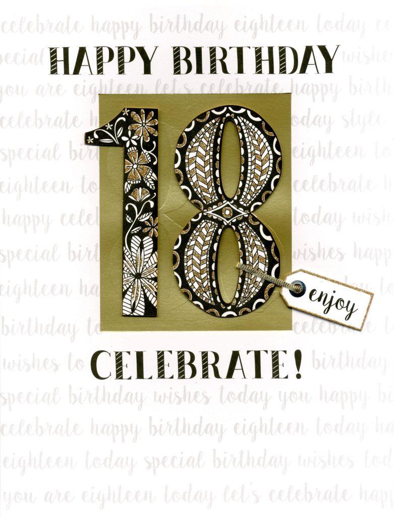 18th birthday gigantic greeting card