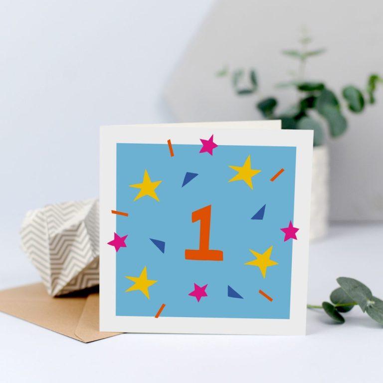 1st birthday card unisex first birthday card card for one year old birthday