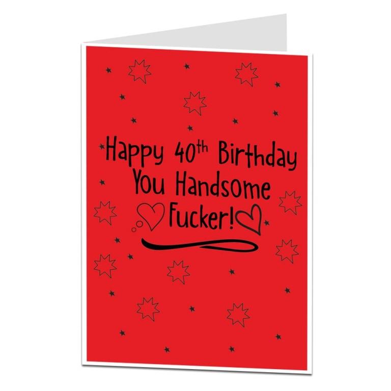 40th birthday card for husband or boyfriend
