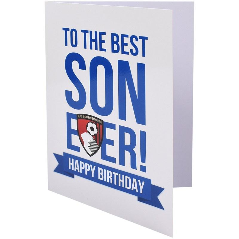 afc bournemouth son birthday card