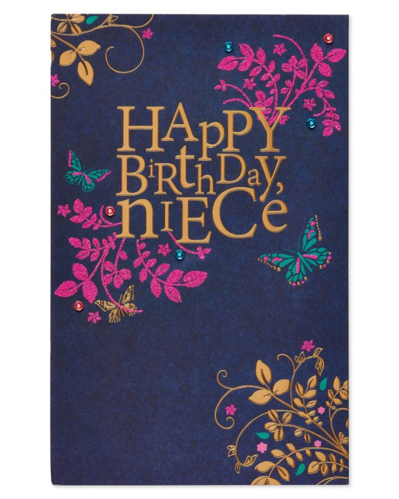 american greetings special birthday card for niece with glitter