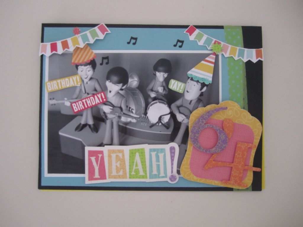 beatles birthday card when im 64 cards michelle ma