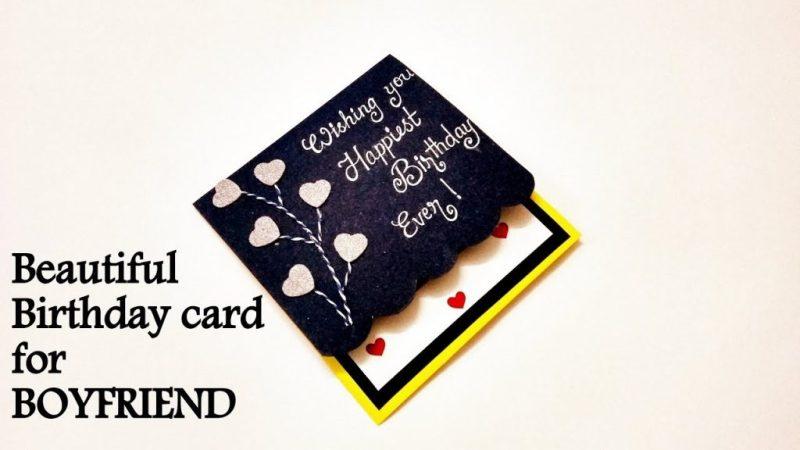 beautiful birthday card idea for boyfriend handmade birthday card idea tutorial