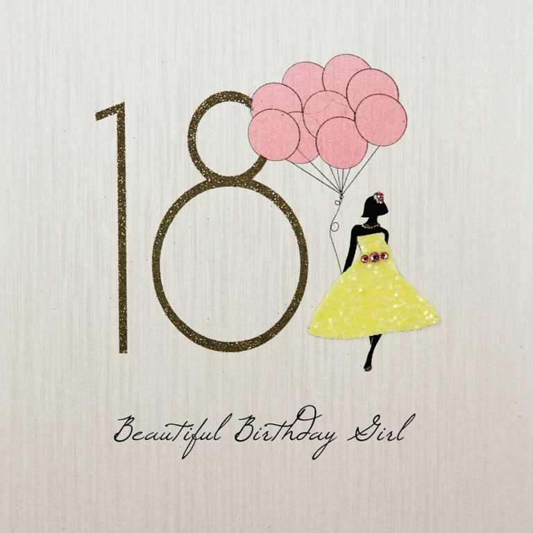 beautiful birthday girl handmade 18th birthday card fk2