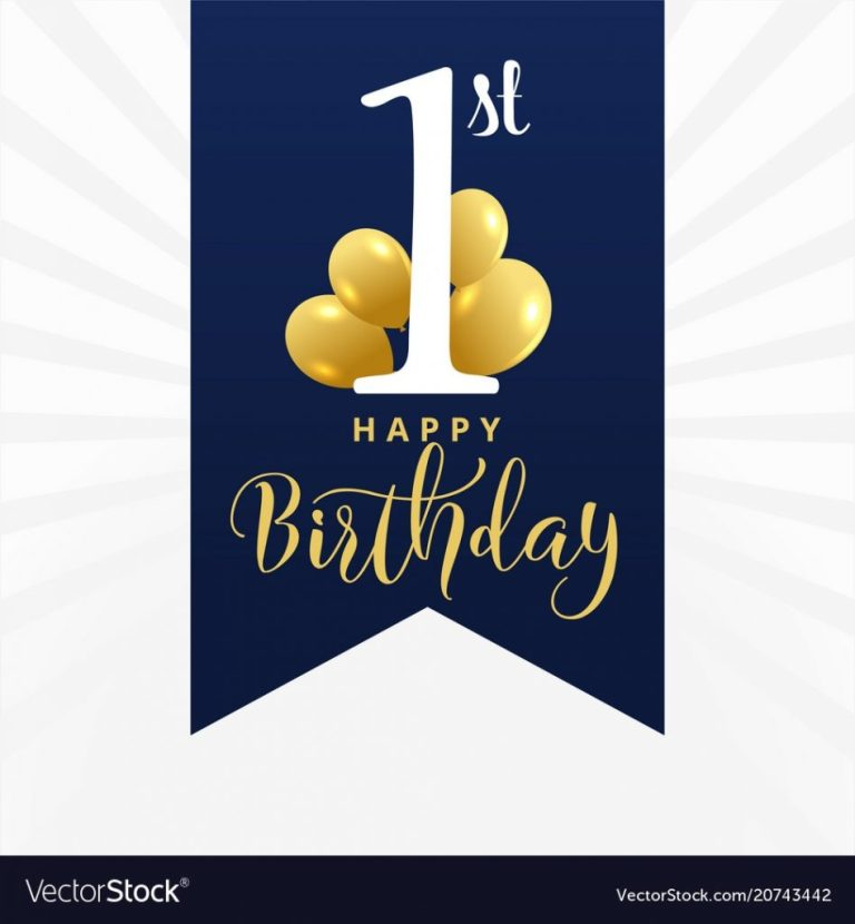 beautiful first birthday card design