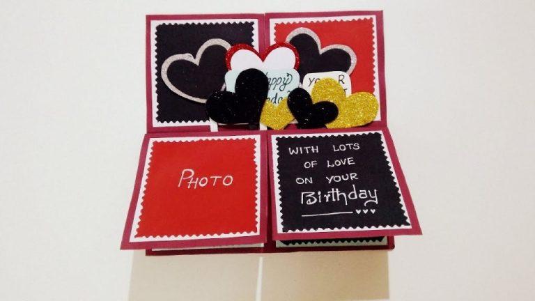beautiful handmade birthday card for boyfriend how to make birthday card tutorial