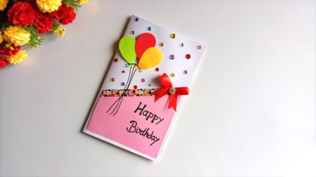 beautiful handmade birthday card idea diy greeting cards