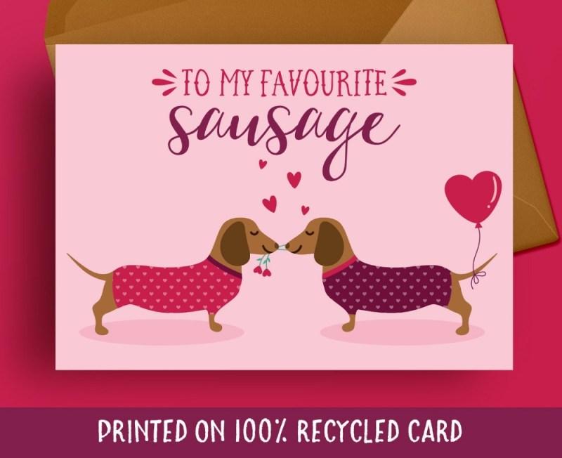 birthday card boyfriend sausage dog birthday card